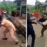 2 Nigerian Men Fight Over A Woman In The Street (VIDEO)