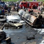 PHOTOS & VIDEO: Two Reported Dead, Many Others Feared Injured In Ibadan Tanker Fire