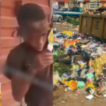 VIDEO: Young Boy Gives Heartbreaking Reason Why He Picks Food From Dust Bin