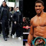 Photos: Boxing Champion, Anthony Joshua Spotted Walking With Crutches During Racial Injustice Protest