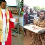 Prophet paraded after being caught burying charms in someone's house (photos)