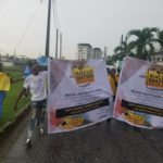 Racial Killings: Protesters Defy Heavy Rain In Lagos, March In Solidarity With Blacks Against White Brutality (PHOTOS)