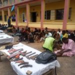 PHOTOS: Ogun Police Parade 103 Suspects Over Cultism, Vandalism, Robbery
