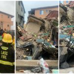 PHOTOS: Eight Rescued In Lagos Island Building Collapse