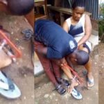 Woman Chained to a Pillar For 10 Hours By Her Abusive Husband in Ebonyi (Photos)
