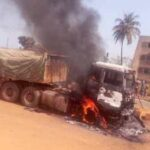 Mob Burns Dangote Truck For Killing Ogun Okada Rider