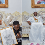Ooni Of Ife Adopts, Gives Scholarship To Boy Who Drew His Portrait (PHOTOS)