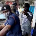 Ghanaian Policemen Harass And Closes A Nigerian Businessman's Shop Over $1m Tax (Video)
