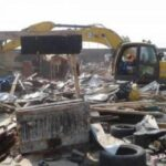 Lagos State Govt Begins Massive Demolition Of Illegal Structures In Lekki