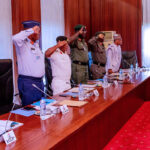 Insecurity: Buhari Meets Security Chiefs In Abuja