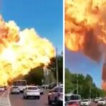 PHOTOS: Massive Explosion Erupts From Gas Station In Russia Few Days After Lebanon Tragedy