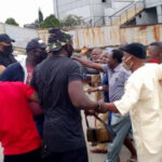 PHOTOS: Suspected Hoodlums Attack Protesting Pensioners At Imo Government House