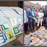 Photos: Gov. Rotimi Akeredolu Shares Ludo and Slippers To Citizens Ahead Of Ondo Elections