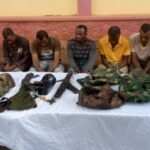 Photos: Ogun Police Arrest 6 Suspected Armed Robbers Operating In Military Camouflage
