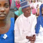 Blue-eyed woman and husband re-marry (PHOTOS)
