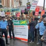 Nigerians Protest Against Fuel, Electricity Increment, Anti-People Policy In Ojuelegba (Photos)
