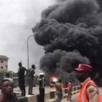 Panic In Lagos As LASTMA Head Office Guts Fire In Oshodi