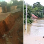 PHOTOS: Several Families Trapped As Landslide Surrounds Buildings In Owerri After Heavy Downpour