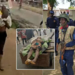 Photos: NSCDC Officer Kills Unarmed Youth In Aba, Residents Protest With Victim's Corpse
