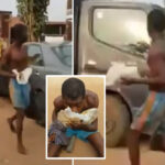 The Moment A Suspected Ritualist Was Forced To Eat Stolen Faeces In Delta (VIDEO)