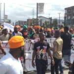 BREAKING: Police Arrests 30 People As #RevolutionNow Protest Hits Lagos (photos)