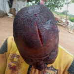 Two Armed Men In Military Uniform Brutally Hack Okada Man In Abia (graphic photos)
