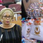 Photos: Lagos State Legislator, Mojisola Alli-Macauley Reportedly Used COVID-19 Palliatives As Party Souvenir