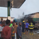 Tanker explodes in a filling station at Ajayi Road, Ogba (Photos & Videos)