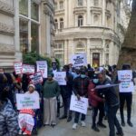 #EndSARS: Nigerians In Diaspora Hold Peace Rally In London, Condemns Violence By Protesters (Photos)
