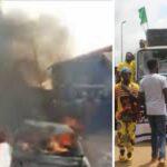 #EndSARS: SARS Office, Police Division, PDP Secretariat Razed In Akure