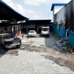 ATMS Vandalised, 63 Buses Burnt And Assets Destroyed By Hoodlums In Lagos (PHOTOS)