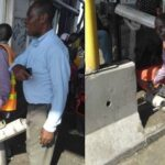 Photos of men cutting off security cameras at the Lekki toll gate moments before the shootings started