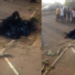 Mob Sets Man Ablaze In Benue For Allegedly Trying To Steal Motorcycle (photos)
