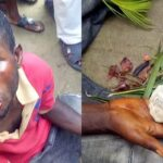 Man Caught With Fetish Items At A Cemetery In Rivers State Making Incantations And Invocations (Photos)