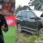 Barcelona Legend Samuel Eto'o In 'Fatal' Auto Crash, Lands In Hospital (Photos)