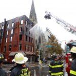 PHOTOS: Fire tears through New York Middle Collegiate Church