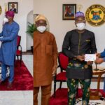 PHOTOS: Gov Sanwo-Olu fulfils his promise, presents N10m cheque to LASU best graduating students