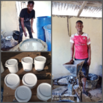 Young Nigerian man packages pap in containers to make a living, stirs reactions (photos)