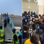 PHOTOS: 300 Men, 83 Women, Child Evacuated From UAE Arrive Abuja