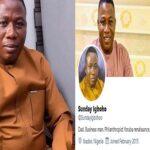 Sunday Igboho Disowns Twitter, Facebook Accounts