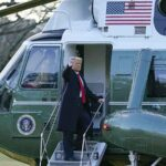 Trump leaves White House, says 'It's been a great honor' (photos)