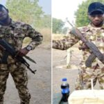 Soldier Serving In Borno State Celebrates His Birthday In A Unique Way (Photos)