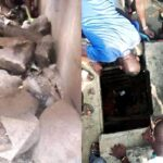 Chaos In Lagos Community As Residents Discover Kidnappers' Tunnel, Pounce On Suspects (PHOTOS)