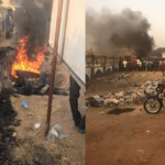 PHOTOS: Mob Sets Suspected Motorcycle Thief Ablaze In Benue