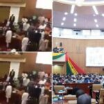 Ghanaian Parliamentarians Exchange Blows Over Who Takes The Majority Side (Photos & Videos)