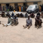 PHOTOS: Police Parade 40 Suspected Kidnappers, Cattle Rustlers In Adamawa