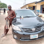 Photos Of Suspected Armed Robber Nabbed In Abuja With Stolen Vehicle