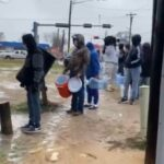 VIDEO: Texas Residents Line-Up To Fetch Water From Borehole Amid Power Outage