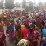 PHOTOS: 'Fulani must go protest' rocks Edo State as women block major roads