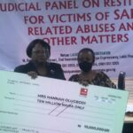 #ENDSARS: Lagos Judicial Panel Pays N10m Compensation to Woman Shot By Police Officer (Photos)